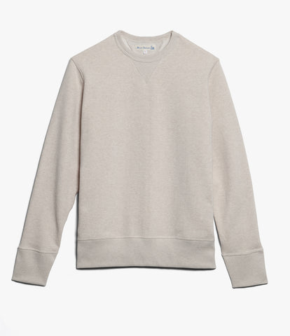 Men's <br/>346 crew-neck sweatshirt <br/>khaki mel.