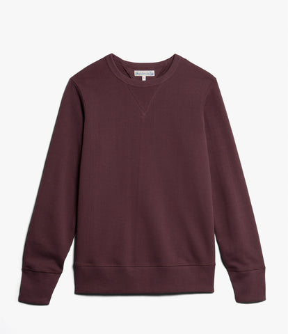 Women's <br/>3.CSBF crew-neck boyfriend sweatshirt <br/>red oak