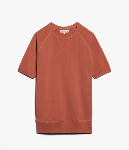 Men's<br/>347 crew-neck sweatshirt sh. slv.<br/>light rust