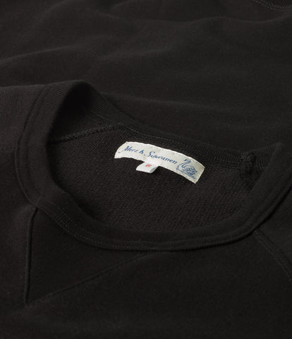 347 crew-neck sweatshirt sh. slv.<br/>deep black
