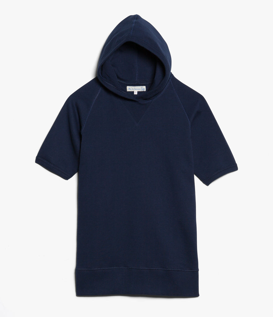 383 hooded sweater raglan 1/4 slv.<br/>ink blue