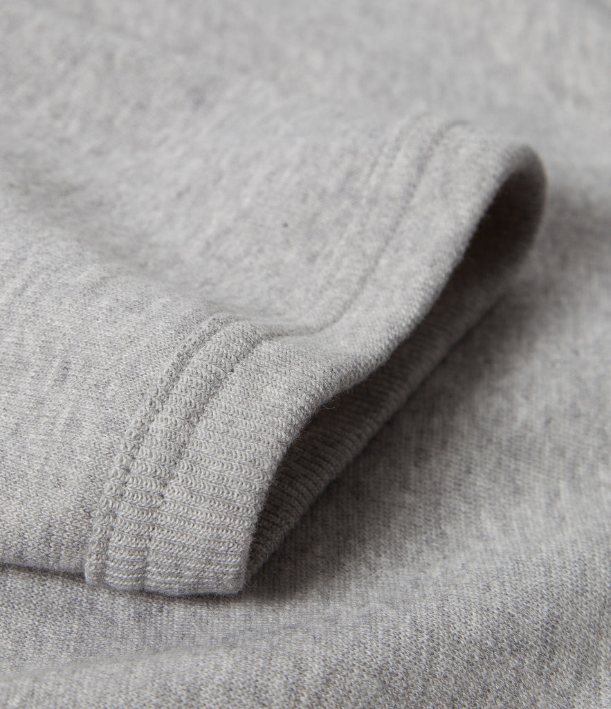 383 hooded sweater raglan 1/4 slv.<br/>grey mel.