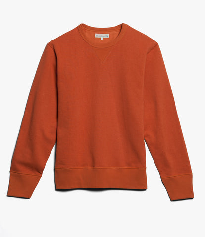 Men's<br/> 3H48 hemp-cotton crew-neck sweatshirt heavy<br/> rust