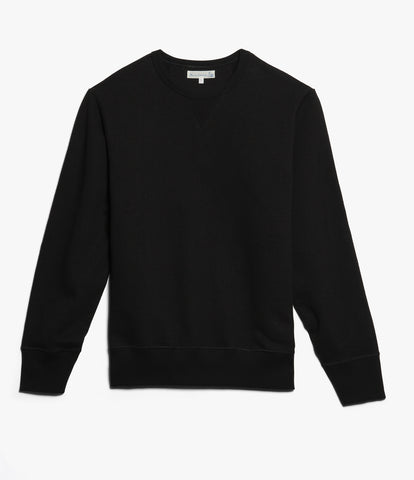 Men's<br/> 3H48 hemp-cotton crew-neck sweatshirt heavy<br/> deep black
