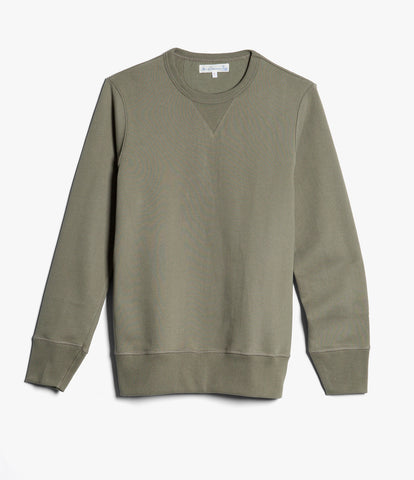3S48 crew-neck sweatshirt heavy<br/>army
