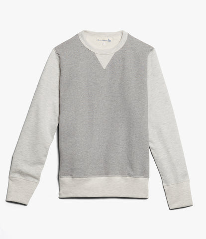 Men's<br/>3S48 crew-neck sweatshirt heavy<br/>grey mel.-nature mel.