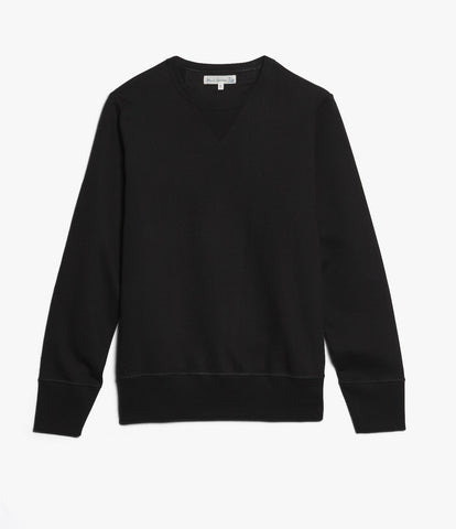 3S48 crew-neck sweatshirt heavy<br/>deep black
