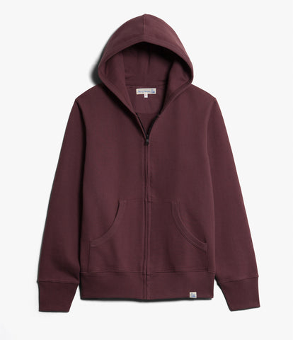 Men's <br/>3S80 hooded zip jacket <br/>red oak