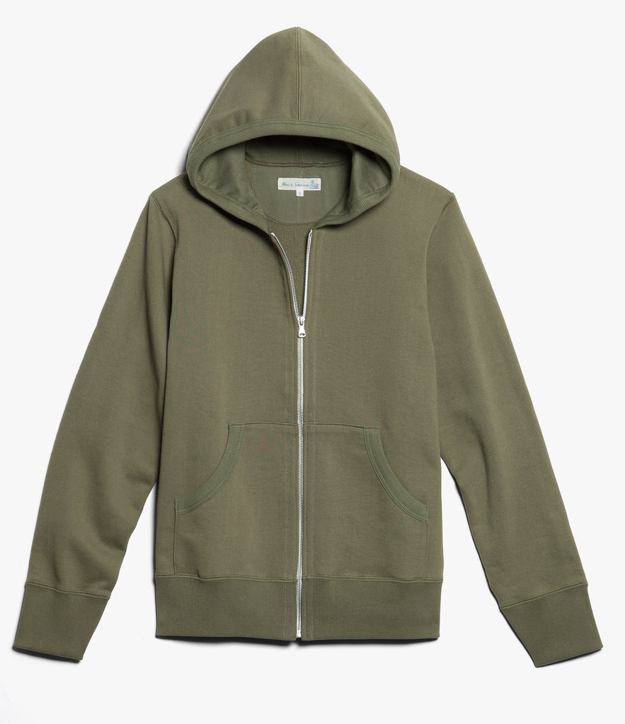 Men's <br/>3S80 hooded zip jacket <br/>army