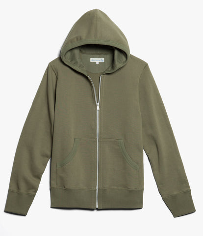 3S80 hooded zip jacket<br/>army
