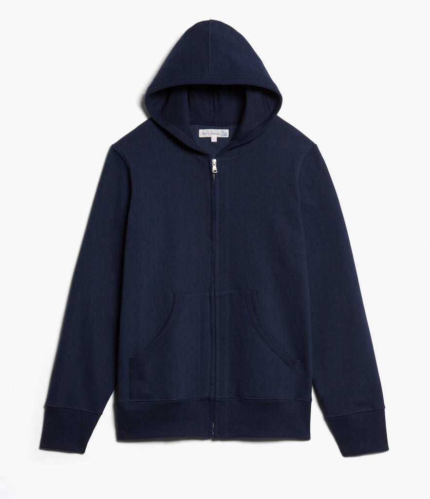 Men's <br/>3S80 hooded zip jacket <br/>ink blue