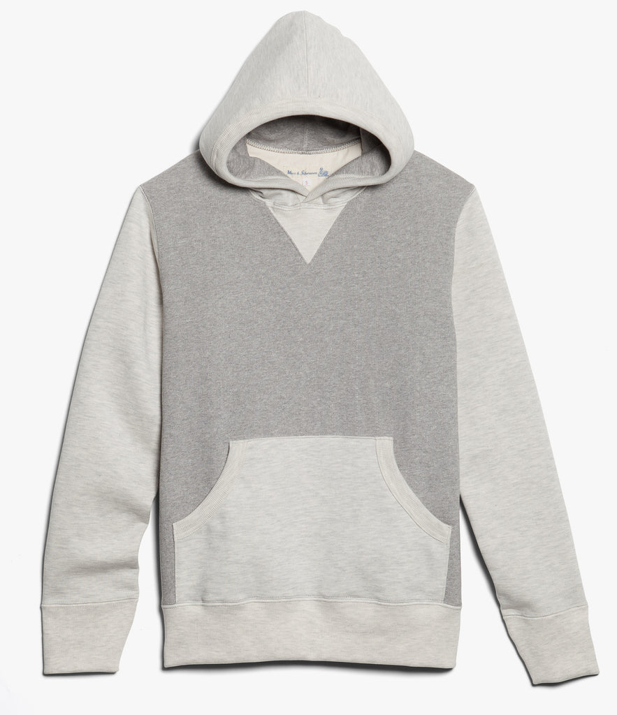 3S82 hooded sweater heavy<br/>grey mel.-nature mel.