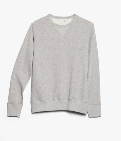 Men's <br/>3W48 crew-neck sweatshirt Wolle/Baumwolle <br/>grey mel.