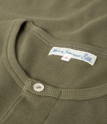 Men's <br/>506 Strickflausch henley long sleeve <br/>army