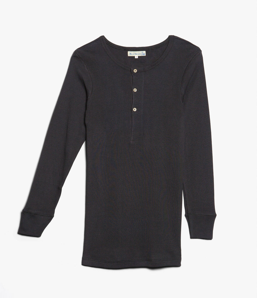 506 Strickflausch henley long sleeve<br/>charcoal