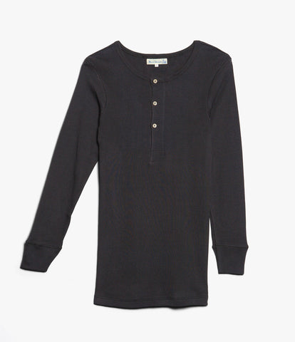 Men's<br/>506 Strickflausch henley long sleeve<br/>charcoal