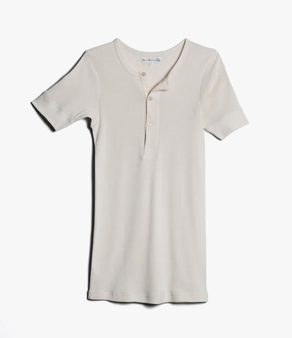 507 Strickflausch henley short sleeve<br/>nature