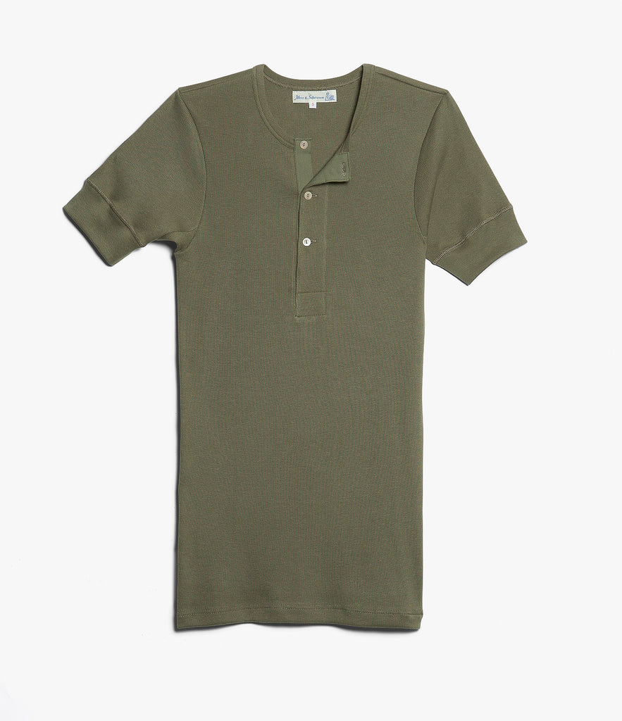 Men's <br/>507 Strickflausch henley short sleeve <br/>army