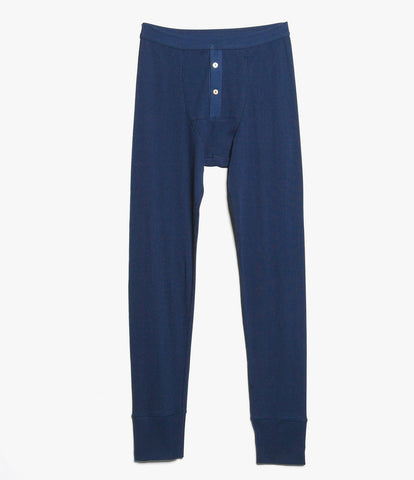 Men's <br/>552 Strickflausch Long Johns <br/>ink blue