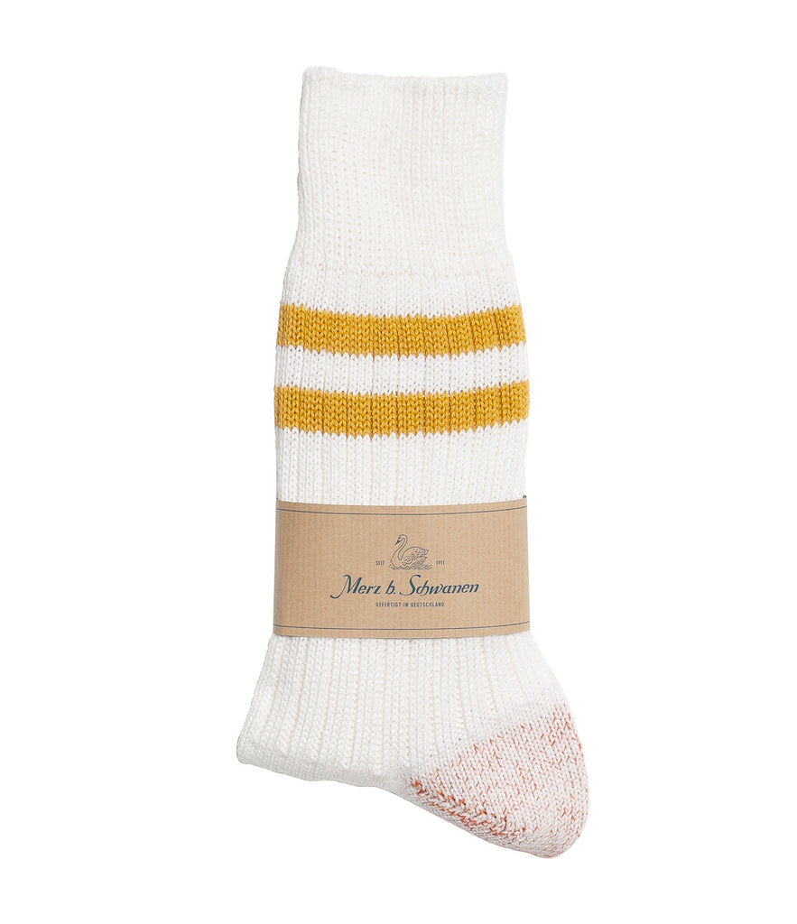 B75 bamboo socks striped<br/>white-sun
