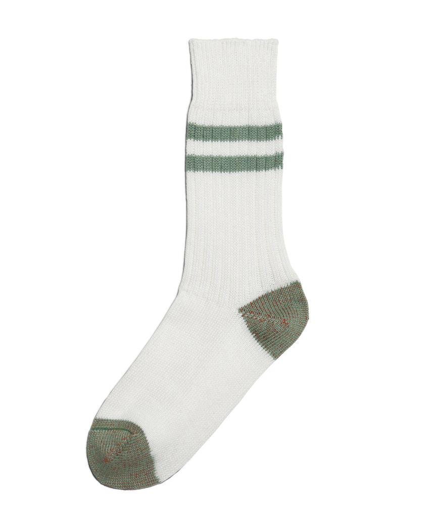 Unisex <br/>B75 bamboo socks striped <br/>white-light army