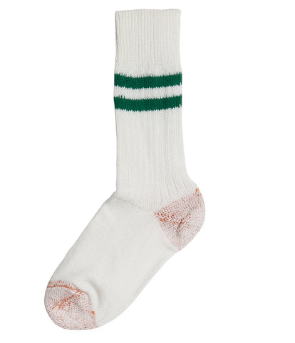 B75 bamboo socks striped<br/>white-green