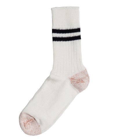 Unisex <br/>B75 bamboo socks striped <br/>white-ink