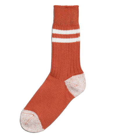Unisex <br/>B75 bamboo socks striped <br/>light rust-white