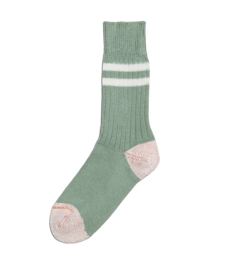Unisex <br/>B75 bamboo socks striped <br/>light army-white
