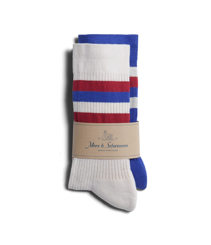 Unisex <br/>C711D cotton-lycra socks bundle<br/>white-electric blue