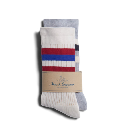Unisex <br/>C711D cotton-lycra socks bundle<br/>white-grey mel.