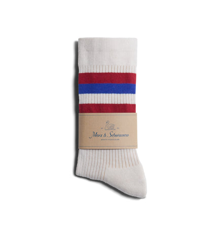 Unisex <br/>C711 cotton-lycra socks striped<br/>white