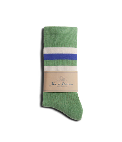 Unisex <br/>C711 cotton-lycra socks striped<br/>green