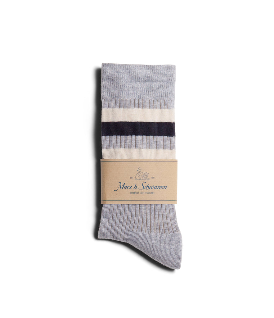 Unisex <br/>C711 cotton-lycra socks striped<br/>grey mel.