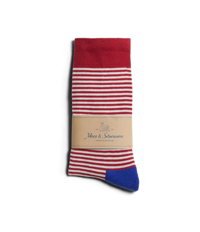 Unisex <br/>C78 cotton-lycra socks striped<br/>white-red