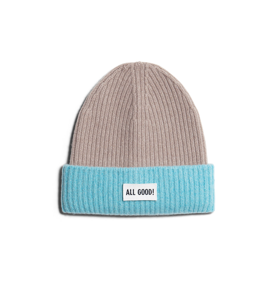 Unisex <br/>LO.BN01 cashmere-merino wool beanie <br/>feather grey-ice