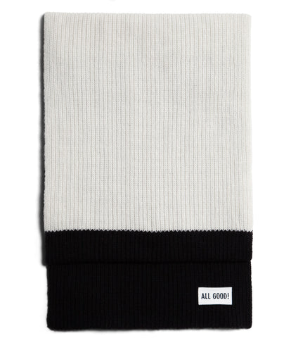 Unisex <br/>LO.SC02 cashmere-merino wool scarf <br/>nature-deep black