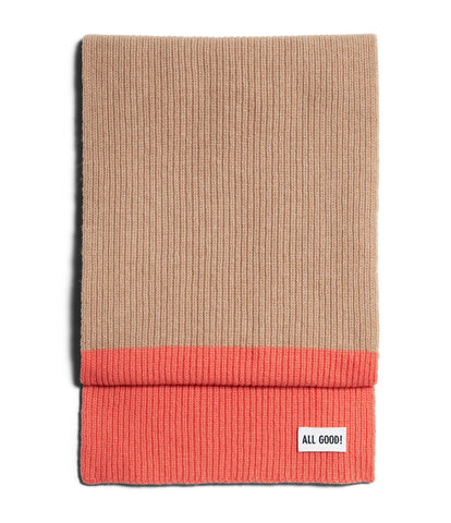 Unisex <br/>LO.SC02 cashmere-merino wool scarf <br/>toffee-lobster