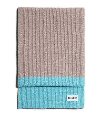 Unisex <br/>LO.SC02 cashmere-merino wool scarf <br/>feather grey-ice