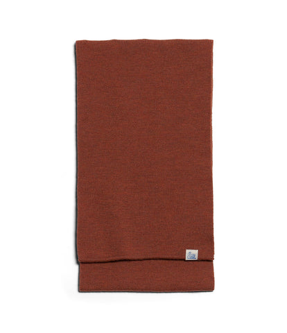 Unisex <br/>M92 merino knitted scarf <br/>rust