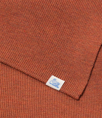 M92 merino knitted scarf<br/>rust