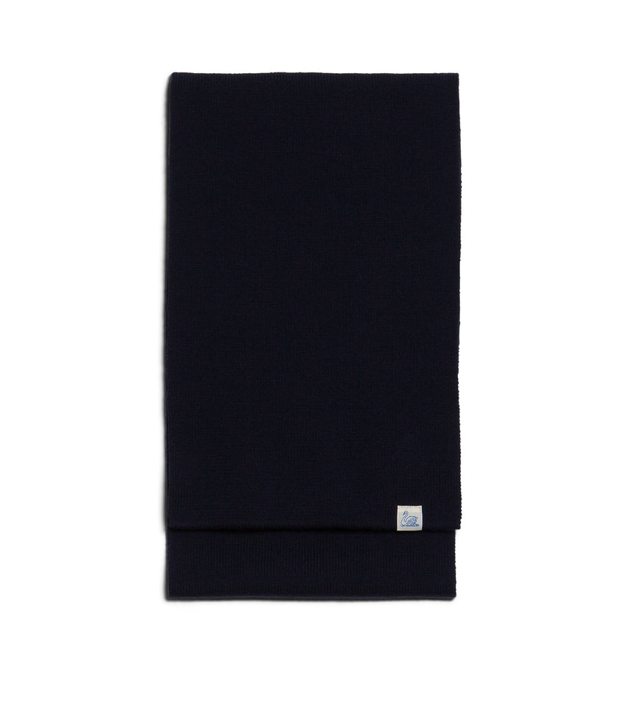 M92 merino knitted scarf<br/>deep black