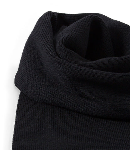 Unisex <br/>M92 merino knitted scarf <br/>deep black