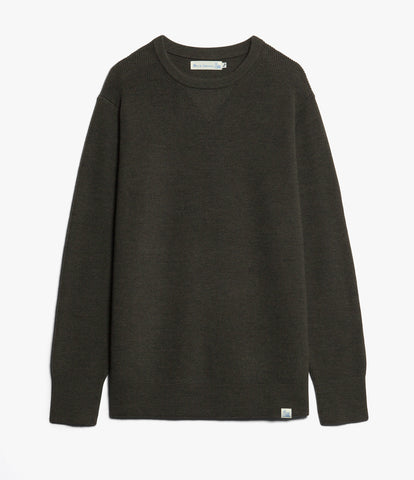 Unisex <br/>MW.CC merino wool classic crew pullover <br/>army