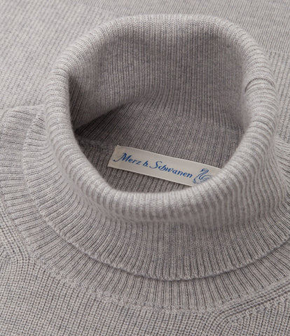 Unisex <br/>MW.CT merino wool classic turtle neck pullover <br/>grey mel.
