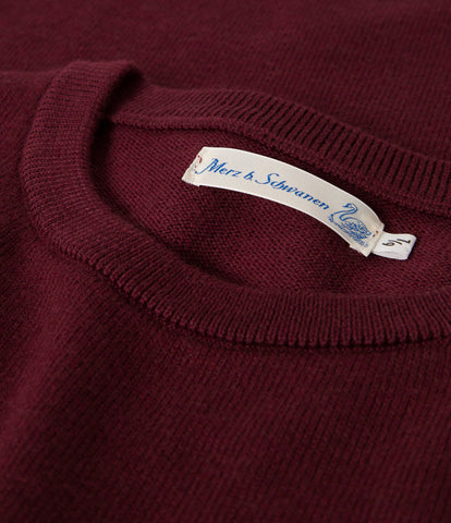 Unisex <br/>MW.RCP merino wool relaxed crew pullover pocket <br/>red oak