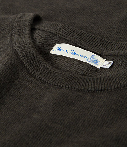 Unisex <br/>MW.RCP merino wool relaxed crew pullover pocket <br/>army