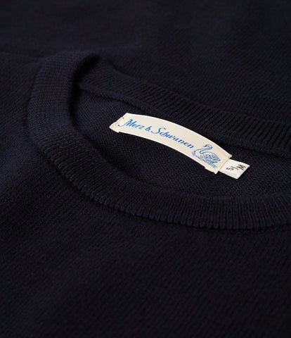 Unisex <br/>MW.RC merino wool relaxed crew pullover <br/>dark navy