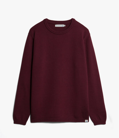 Unisex <br/>MW.RC merino wool relaxed crew pullover <br/>red oak