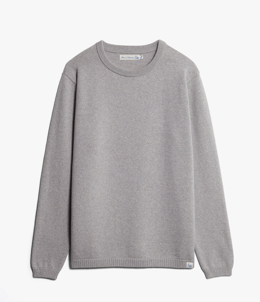 Unisex <br/>MW.RC merino wool relaxed crew pullover <br/>grey mel.